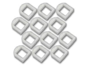 12 Foam Pre-Filters for Drinkwell Stainless Steel 360, Lotus, Avalon, Pagoda Water Bowl (White)