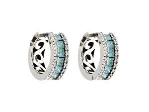 Effy Jewelers 14k White Gold Diamond & Blue Diamond Earrings (1.38 TCW)