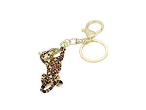Effy Jewlery Yellow Panther Rhinestone Keychain