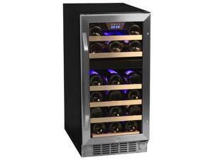 EdgeStaR 26-Bottle Dual Zone Stainless Steel Wine Cooler