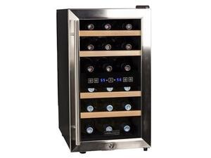 Koldfront 18-Bottle Dual Zone Stainless Steel Wine Cooler