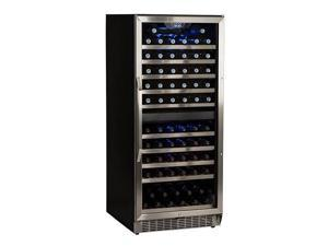 EdgeStar CWR1101DZ 110 Bottle Built-In Dual Zone Stainless Steel Wine Cooler