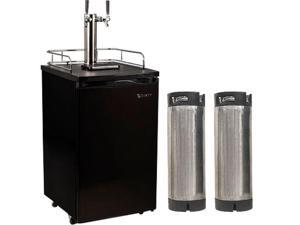 Edgestar Ultra Low Temp Home Brew Dual Tap Kegerator with Kegs