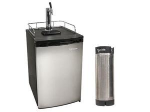 Edgestar Ultra Low Temp Home Brew Stainless Steel Kegerator with Keg