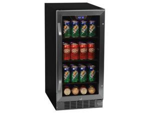 EdgeStar 80 Can Built-In Beverage Cooler - Black/Stainless Steel