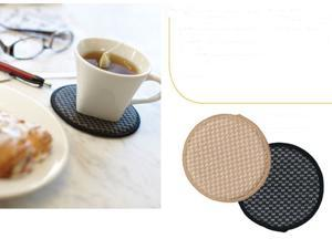 Envision Home Coasters, 4 pack, Black