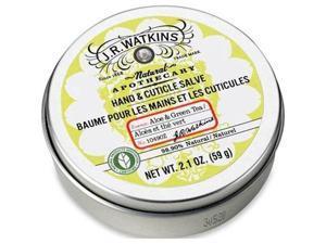 Watkins Hand and Cuticle Salve, Aloe and Green Tea, 2.10 Ounces - 1 Tin