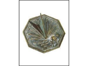 Rose Brass Sundial - 9.25 Inch