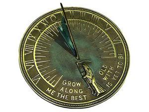 Rome Industries Father Time Brass Sundial - Verdigris Highlights