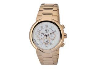 Philip Stein Men's 32-ARGW-RGSS Quartz Gold Plated Chronograph White Dial Watch
