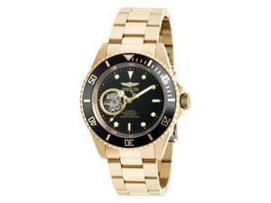 Invicta Men's 20436 Pro Diver Automatic 3 Hand Black Dial Watch