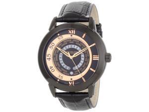 Stuhrling Original 118B 335541 Men's World Traveler Swiss Quartz Black Watch