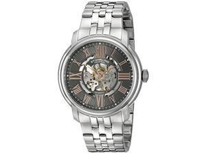 Stuhrling 812 03 Mens Atrium Automatic Self Wind Skeleton SS Link Bracelet Watch