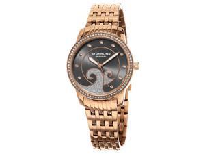 Stuhrling 569 05 Women's Coronet Quartz Swarovski Crystals Rose Tone Watch