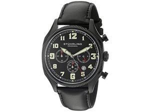 Stuhrling Original 584 02 Men's Monaco Analog Display Quartz Black Watch