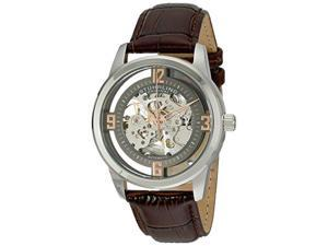 Stuhrling 877 03 Men Winchester Automatic Self-Wind Skeleton Brown Leather Watch