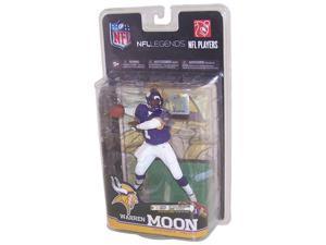 Mcfarlane NFL Legends Series 6 Warren Moon Minnesota Vikings Purple Jersey Collector Level Bronze Production Number 3000 Pieces
