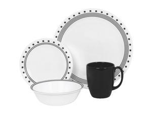World Kitchen 1074208 16-Piece City Block Corelle Dinnerware