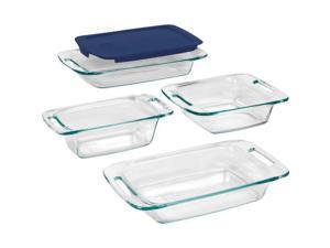 5Pc Pyrex Bakeware Set Pyrex Easy Grab 5-Piece Clear Glass Bakeware Set