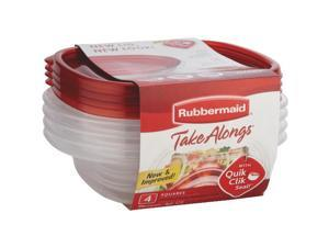 Rubbermaid 1832533 Take Alongs Quik Clik Seal Containers 4 Count