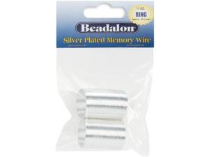 Beadalon Ring Size Memory Wire Silver Plated 95 Loops