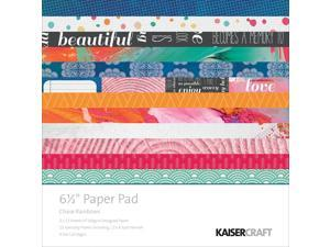 "Kaisercraft Paper Pad 6.5""X6.5"" -Chase Rainbows"