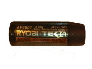 Ryobi TEK4 AP4001 Replacement 4V Lithium-Ion 1.3 ah Battery # 130166010