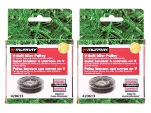 Murray 2 Pack 420613MA Backside Idler Pulley with Approx. 3-Inch Outside Diameter