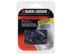 Black & Decker CCS818 & NPP2018 Saw Replacement (2 Pack) 8-Inch Saw Chain # RC800-2pk