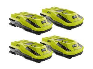 Ryobi P2107 Blower P2700 18V Cultivator (4 Pack) Replacement 1 Hour 18V Charger # 140185009-4pk