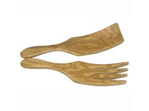 Berard Olive Wood Sauerkraut/Spaghetti Server Set - 9""