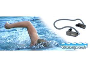 Pyle PSWP4BK Waterproof Neckband MP3 Player and Headphones for Swimming, Water Sports - Black