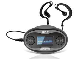 New Pyle PSWP25BK 4GB Waterproof MP3 Player/FM Radio with Pedometer, Lap Counter, Stop Watch, LCD Display and Included Waterproof Headphones (Black Color)