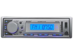 Enrock Silver Marine In-Dash Receiver with AM/FM Radio, AUX Input, SD/USB Memory Readers