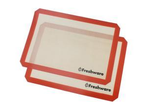 Freshware BM-102PK 16.5 by 11.6-Inch Silicone Non-Stick Baking Mat with Cut Corner, Half Size, 2-Pack