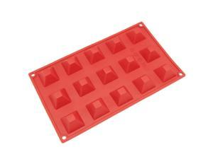 Freshware SM-101RD 15-Cavity Silicone Mini Pyramid Chocolate, Candy and Gummy Mold