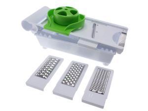 Freshware KT-401 6-in-1 Kitchen Mandoline Slicer/Grater with Food Safety Holder
