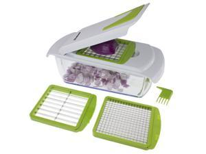 Freshware KT-405 4-in-1 Onion, Vegetable, Fruit and Cheese Chopper with Storage Lid