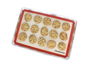 Freshware BM-104 Silicone Non-Stick Baking Mat with Cut Corner for Macaron, Whoopie Pie, Cookie, Creme Puff and more, Full Size, 24.4 x 16.5 inch