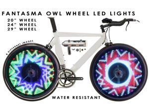 "Fantasma OWL BK-2071 Bicycle On-Wheel LED Imaging System  (20""~up) - Preprogrammed Images"