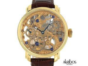 Akribos XXIV ak418yg Gentlemens Mechanical Watch Retail: $750