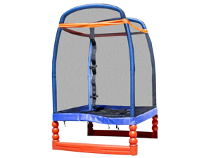 SkyBound Super 4 Ft. Trampoline - For Indoor/Outdoor with Enclosure Set