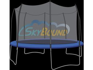SkyBound 15 ft. (Trampoline Frame Size) Replacement Netting for 8 Straight Curved Pole Enclosure Systems . (Fits Brands Skywalker) (Net Only)
