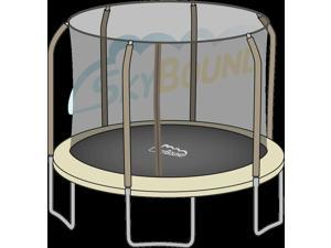 SkyBound 14 ft. (Trampoline Frame Size) Replacement Netting for 6 Straight Curved and Top Ring Pole Enclosure Systems . (Fits Brands ) (Net Only)