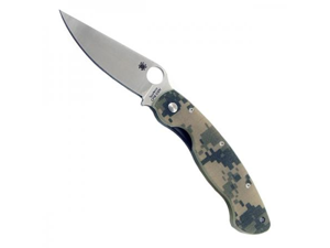 Spyderco C36CPCMO PlainEdge Clip Point Camo G-10 MILITARY Folding Knife 4""