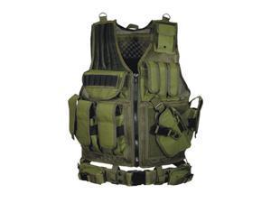 UTG Leapers 547 Law Enforcement Tactical Vest OD Green PVC-V547GT