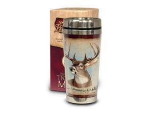 American Expedition Wildlife Steel Travel Mug - Whitetail
