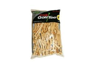 "Pride Golf Tee Birch 2 3/4"" Tees 100 Ct Bag Natural NEW"