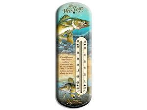American Expedition Walleye Tin Back Porch Thermometer BTHM-132