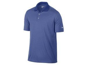 Nike Golf Dri-Fit Victory Stripe Polo - Royal/White Large 585748-491
